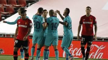 primera divison - fc barcelona gewinnt bei liga-neustart 4:0 auf mallorca