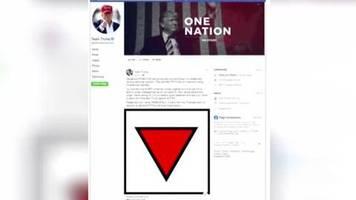 verstoß gegen hassregeln: nazi-symbolik: facebook löscht spots von trumps wahlteam