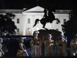 washington wird gesichert: nationalgarde schützt statuen gegen proteste