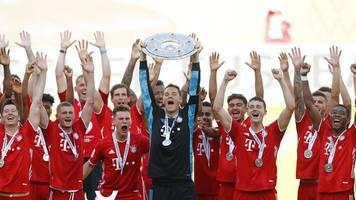 30. Titel: FC Bayern nach Spiel in Wolfsburg als Meister geehrt