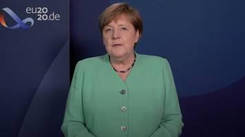 Kanzlerin Angela Merkel warnt die Deutschen: Die Gefahr ist weiter ernst
