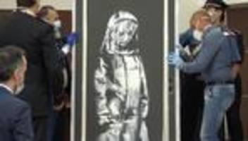 street-art: verdächtige wegen diebstahl eines banksy-gemäldes festgenommen