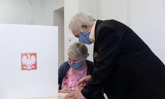 hohe wahlbeteiligung bei präsidentenwahl in polen