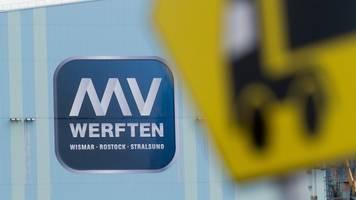 Banken geben 175 Millionen Euro für MV-Werften frei