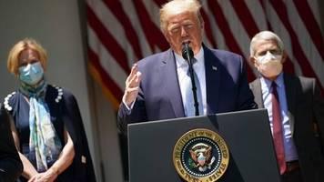 Corona-Pandemie: Kaum jemand in den USA stört sich an der Maske, nur Donald Trump gibt sich weiter die Blöße