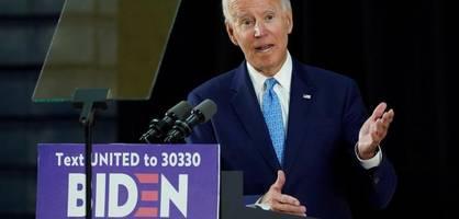 Biden attackiert Trump - verzichtet aber bis November auf Wahlkampfauftritte