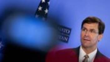 US-Verteidigungsminister: US-Verteidigungsminister informiert über Truppenabzug