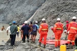 Unglück: Erdrutsch in Bergwerk in Myanmar – mehr als 100 Tote