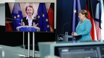 tempo für europa: merkel will rasche einigung auf milliarden-paket