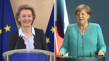 EU-Ratspräsidentschaft: Nicht wahr, Ursula?: Merkel und von der Leyen über die Angst vor zu viel German in der EU