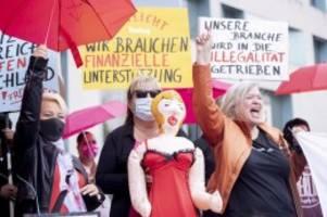 Corona-Pandemie: Prostituierte demonstrieren gegen Corona-Auflagen