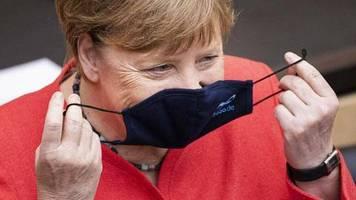 Angela Merkel: Erste Fotos der Kanzlerin mit Maske