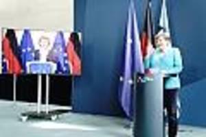 Corona-Debatte im Live-Ticker - Reporterin spricht Beleidigung durch Trump an: Merkel weicht in Antwort aus