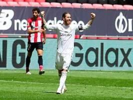 Real dicht vor 34. Meistertitel: Ramos-Treffer hält Barcelona auf Abstand