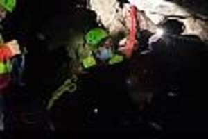 Eingeschlossen nach starkem Regen - Höhlendrama in Italien: Geologe stirbt nach Wassereinbruch
