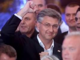 Parlamentswahl: Rechte Regierungspartei HDZ gewinnt überraschend klar in Kroatien