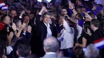 Video: Parlamentswahl in Kroatien: Konservative Partei wird stärkste Kraft