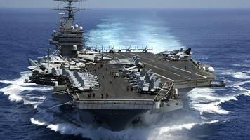 Militärübung: Machtdemonstration: US-Flugzeugträger fahren Manöver in Sichtweite chinesischer Kriegsschiffe