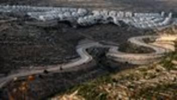 westjordanland: deutschland will geplante israelische annexion nicht anerkennen