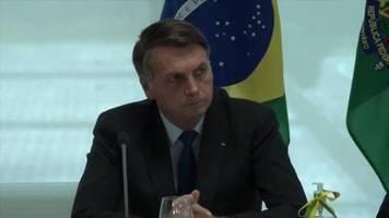 Video: Brasiliens Präsident unterzieht sich Corona-Test