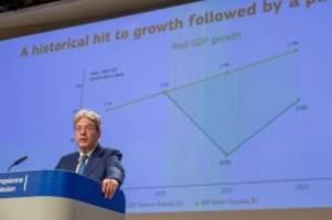 Größte Wirtschaftskrise der EU: EU-Prognose: Corona-Rezession noch tiefer als befürchtet