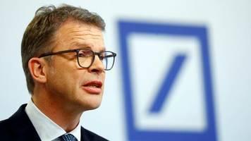 Konzernumbau: Deutsche-Bank-Chef Sewing: Positive Trends im zweiten Quartal bestätigt