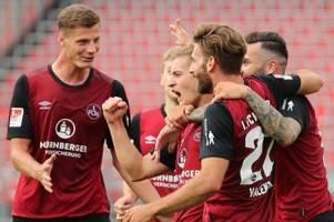 1. FC Nürnberg feiert Nürnberger: 2:0 in der Relegation gegen Ingolstadt