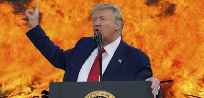 während brand im weißen haus – trump schafft feuerwehr ab