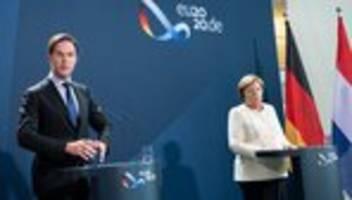 EU-Wiederaufbaufonds: Angela Merkel und Mark Rutte plädieren für Hilfen gegen Reformen