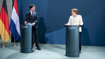 EU in der Corona-Krise: Angela Merkel und Mark Rutte rufen zu Reformen auf