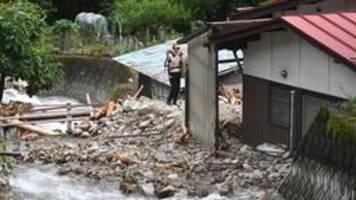 Japan: Weitere Tote nach neuen Gewittern