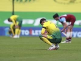 internationaler fußball: norwich city steigt aus der premier league ab