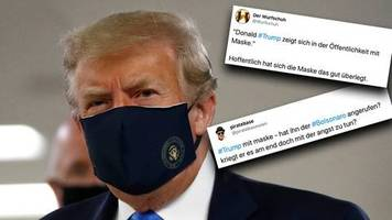 coronavirus in den usa: aus angst, nicht wiedergewählt zu werden: twitter-user reagieren auf trumps kehrtwende bei dem masken-streit