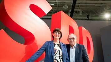 SPD-Chefs: Esken und Walter-Borjans loben Zusammenarbeit mit der Union