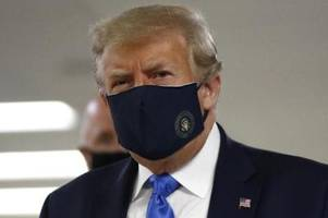 rekord an neuinfektionen in den usa: trump trägt maske