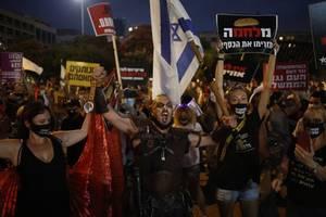 tausende israelis demonstrieren gegen corona-politik
