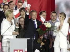 Präsidentschaftswahl in Polen: Amtsinhaber Duda gewinnt Stichwahl