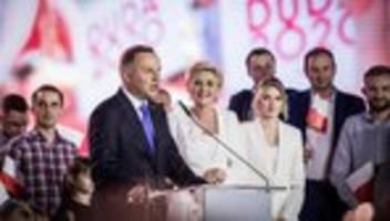 Präsidentschaftswahl in Polen: Amtsinhaber Andrzej Duda steht kurz vor der Wiederwahl