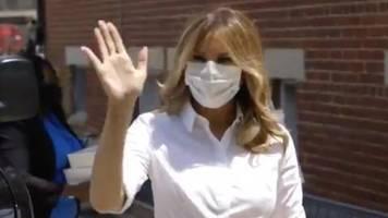 first lady: einsicht oder kalkül? nach donald trump trägt jetzt auch melania eine maske