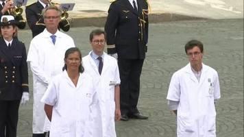 Video: Nationalfeiertag im Zeichen von Corona - Frankreich würdigt Pflegekräfte