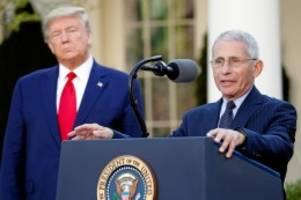 USA: Donald Trump diskreditiert offenbar Corona-Experten Fauci