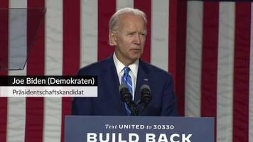 Video: Joe Biden wirft Trump Versagen in Zusammenhang mit der Corona-Pandemie vor