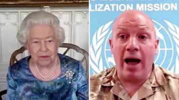 großbritannien: queen im video-call:  elisabeth ii. ruft angehörige der britischen streitkräfte an