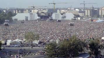 bilder der weltgeschichte: 21. juli 1990: rockspektakel auf dem todesstreifen – the wall in berlin