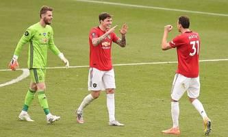 man united und chelsea in der champions league, aston villa gerettet