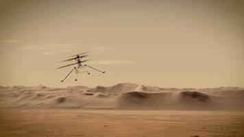 Erster Flug auf anderem Planeten: Wie fliegt ein Helikopter auf dem Mars? Ingenuity soll es der Nasa verraten
