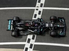 Mit kaputtem Reifen ins Ziel: Hamilton siegt nach Hülkenberg-Drama