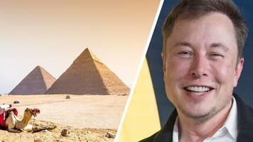 von aliens erbaut: elon musk verbreitet irre pyramiden-these und wird von ägyptischer regierung zurechtgewiesen