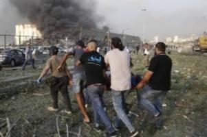 Ursache unklar: Hunderte Verletzte bei schwerer Explosion in Beirut