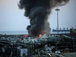 Explosionen in Beirut: Ammoniumnitrat als Ursache vermutet